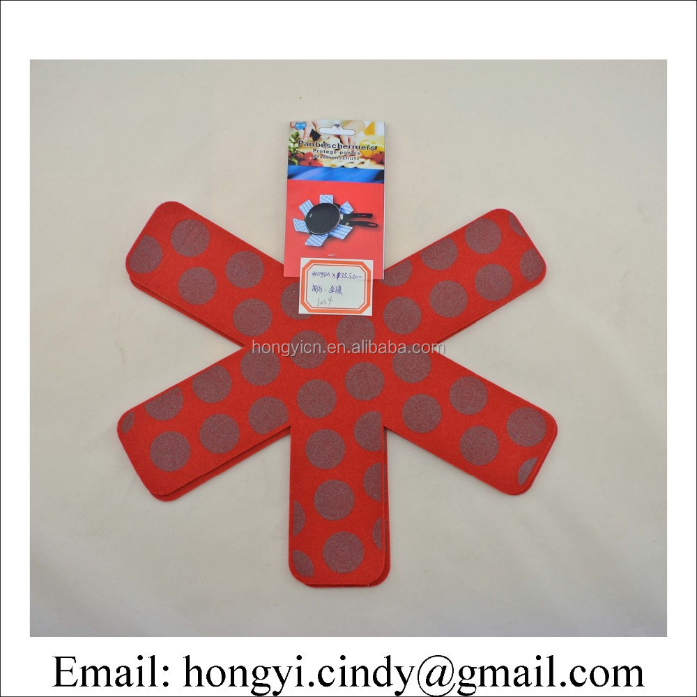 Non woven heat insulation felt pan mats, table mats, pan protector