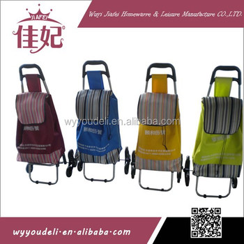 3-wheels shopping troley cart for vegetable