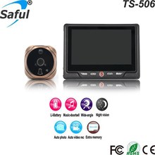 Wholesale 4.3 inch recording function digital peephole best door viewer with 32 type's ringtone