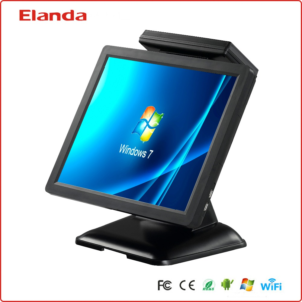 "retail 15"" android touch screen POS system with thermal printer for restaurant"