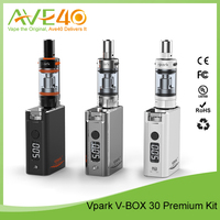 2015 Hot Selling e cigarette box mod vaporizer The Smallest Colorful Vpark 30W Box Mod With New Technology Tank Atomizer