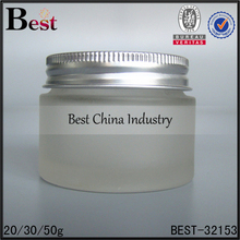 package for cosmetics 20g 30g 50g frosted glass cream jar high quality glass jar aluminum lid factory price wholesale