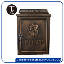 Hot sale residential wall mounted mailbox european style postbox