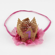 Free shipping in stock hottest princess crown <strong>headband</strong> for baby