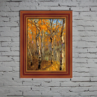 Yes frame abstract forest oil painting