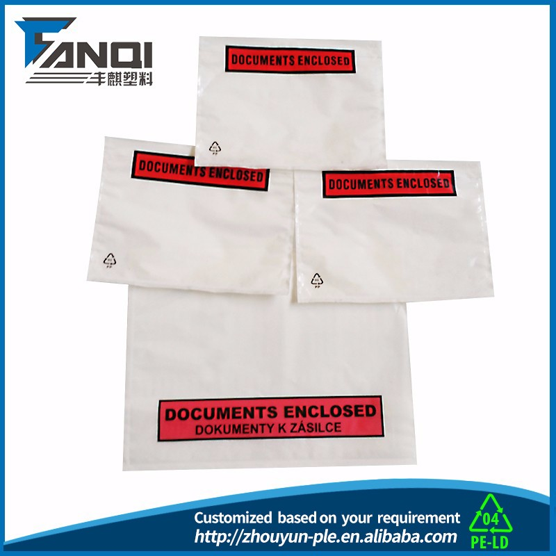 A4 size self adhensive packing list envelope express bag plastic Poly mailers