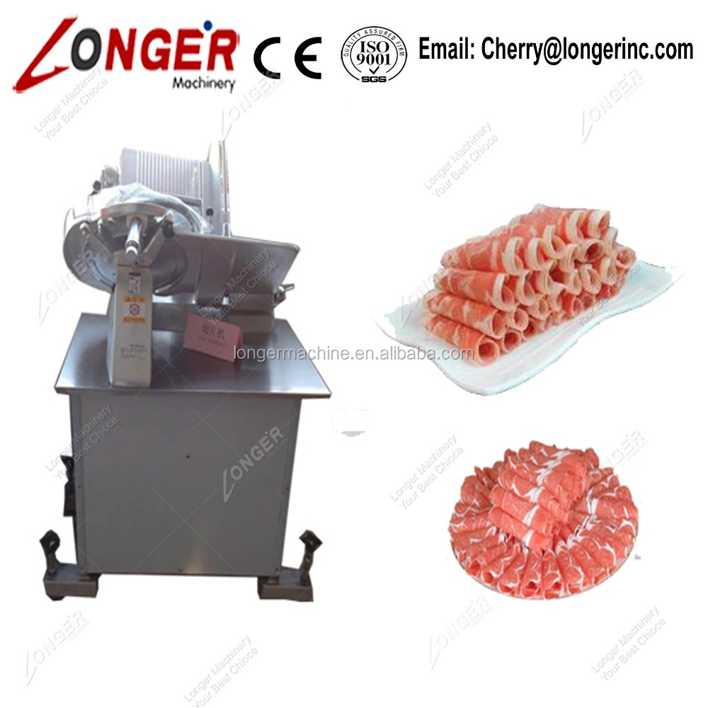 Automatic Frozen Mutton Roll Slicing Machine Goat Meat Mutton Cutting Machine