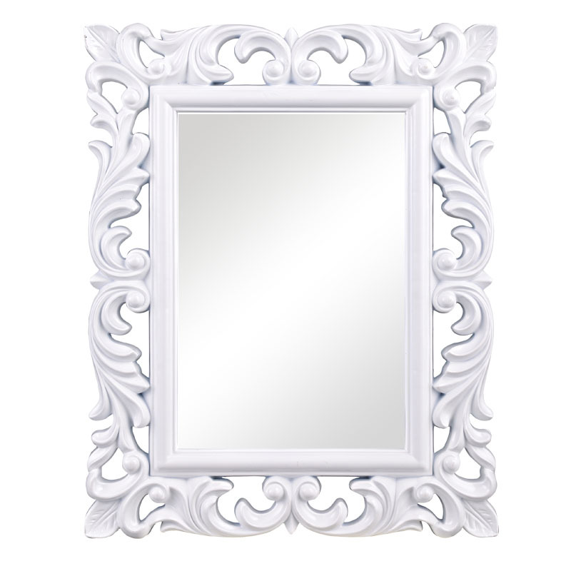 Small mirror frame with white silver gold finish for wall for Small white framed mirrors