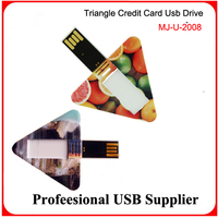 Free sample Credit card usb flash drive with 2sides full color logo printing flash pendrive
