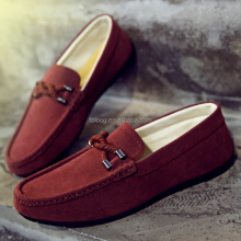 Stylish Men's Suede Leather Driving Loafer Boat Shoes