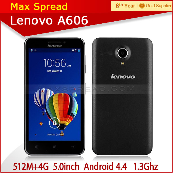 New Lenovo A606 LTE 4G FDD Android phone MTK 6582 Quad Core 1.3GHz china market of electronic