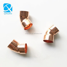 air conditioner accessories copper pipe 45 degreed equal elbow