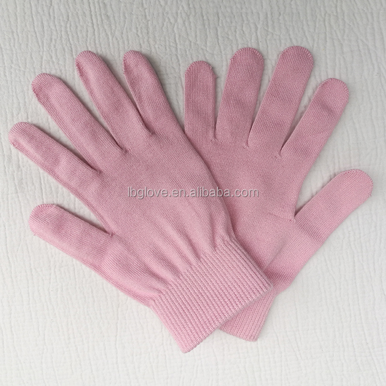 Knitted Cotton Soften Women's Whitening Hand gloves Beauty Repair Skin Care Moisture Whiten Spa Gel Glove