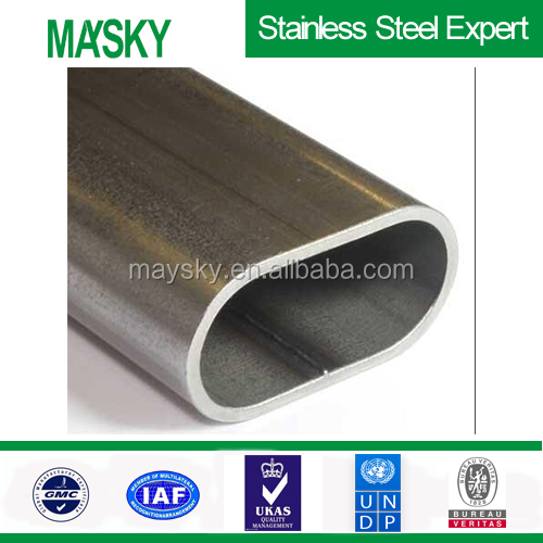 Competitive price stainless steel oval exhaust pipe supplier