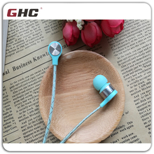 Plastic earphone with Mic & flat cable in good quality for earphone company