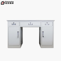 High quality moveable workshop metal desk with three drawers