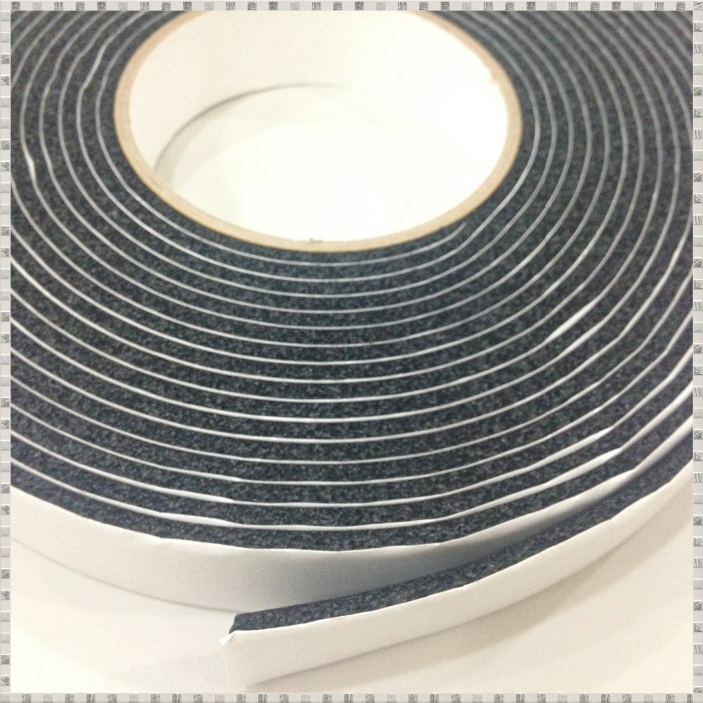 Taiwan made products NBR black adhesive Foam tape apply in Auto, door sealing, air conditioner,pipe, electronics