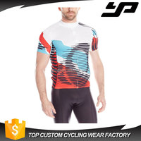 High quality cool design custom blank short sleeve blank cycling jerseys