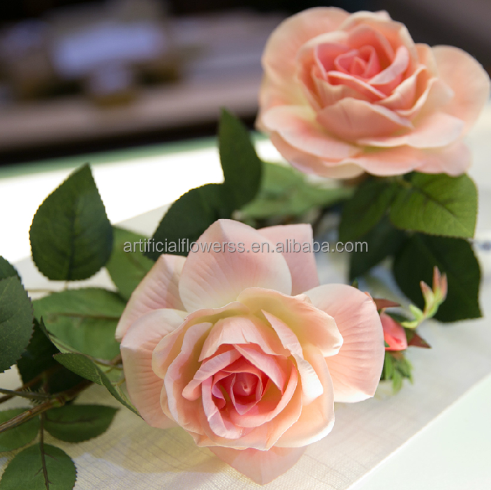 new products wholesale high-end artificial flower description rose flower