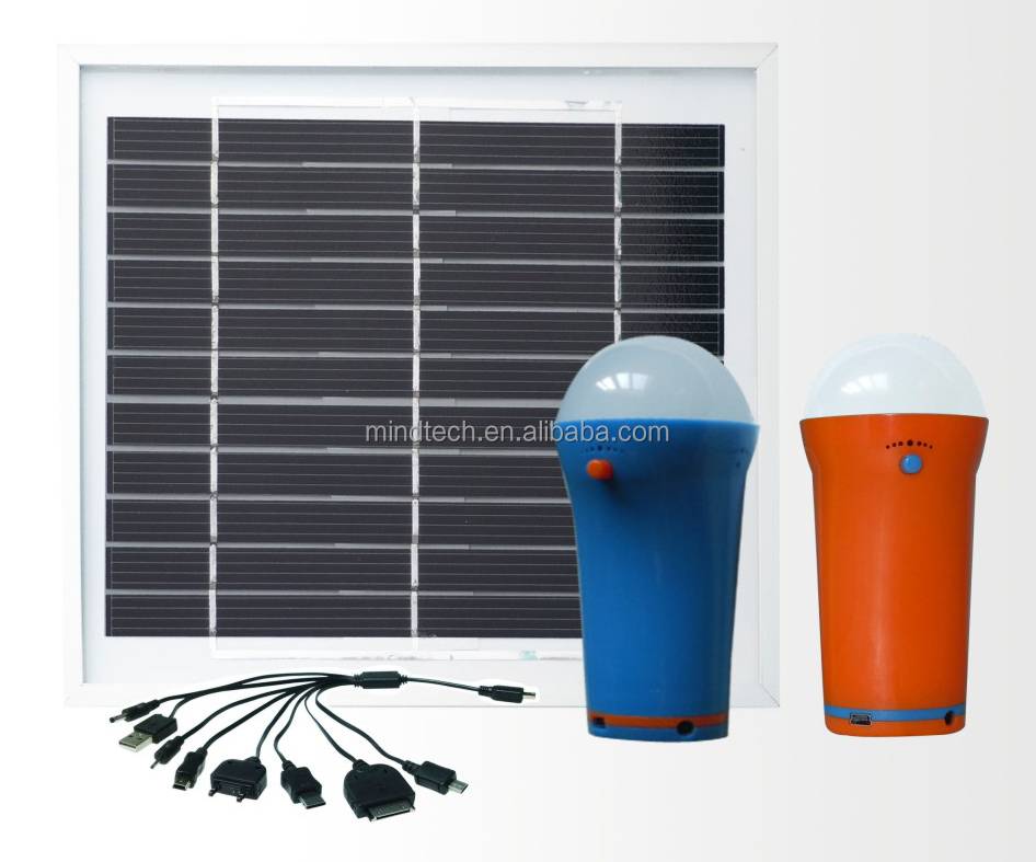 mobile phone charge system 5W solar panel with superbright 3W led light popular in the United Kingdom