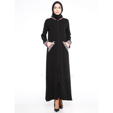 comfortable black maxi kaftan dress for wedding parties abaya for muslim woman