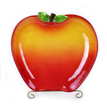 apple shaped ceramic creative plates for restaurant