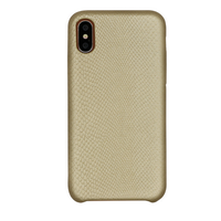 Factory Direct Supply Serpentine Pattern Snake grain Leather Phone Back Case for iPhone X