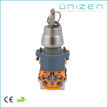 UNIZEN Stainless Steel Key operated Turn Push Button Switch Dia22mm installation hole