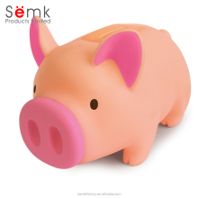 Semk design money boxes plastic pvc material pig shaped piggy bank