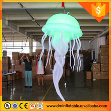 2016 Hot selling led inflatable jellyfish, inflatable decorating jellyfish hanging balloon
