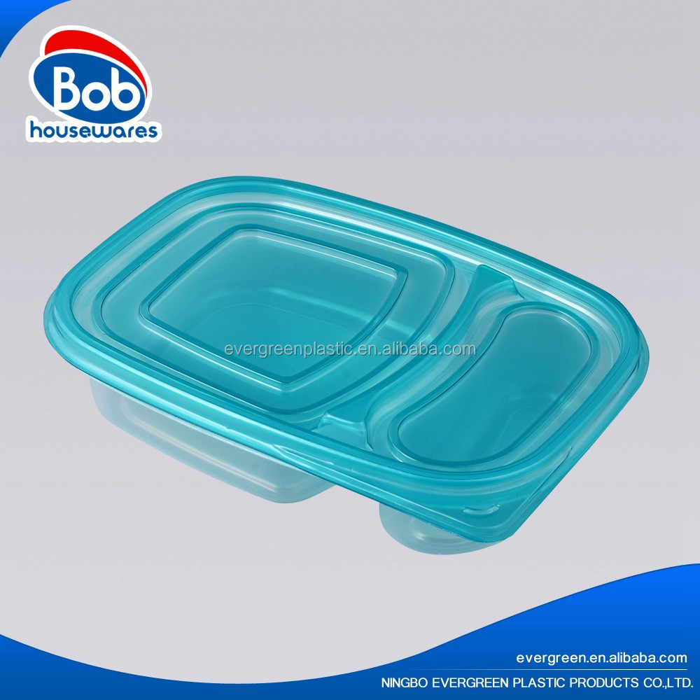 disposable rectangular 2 compartment oven safe food container
