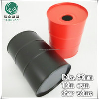hot selling round metal wine boxes, metal wine boxes