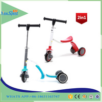 Adjustable childs 3 wheel 2 in 1 pro kick scooter for sale