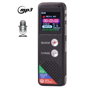 Professional 8GB LCD usb voice recorder Digital voice recorder detector with VOR MP3 Player hidden voice recorder