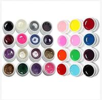 5bogs/ lot New Pure Color UV Gel Nail Art DIY Decoration For Nail Manicure Gel Nail Polish Extension Manicure Decor Kit Pick