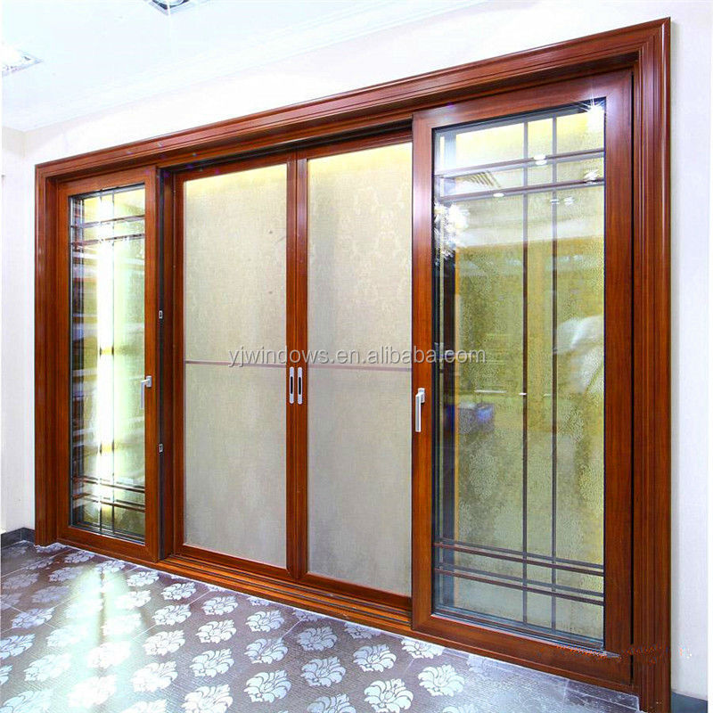New design aluminum door used sliding glass doors sale for 4 sliding glass door