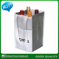 Top grade hot sale non woven tote wine bag