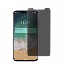 Best selling phone accessory anti-spy privacy screen protector tempered glass film for iphone x