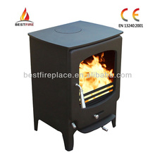 Modern style antique solid fuel burning stove