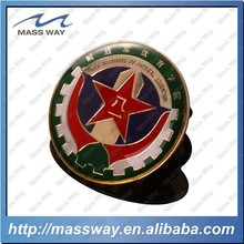 customized gold plated enamel star lapel metal epoxy pin badge