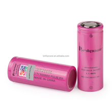 High quality imr 3.7v lithium rechargeable 3.7v battery 4500mah brillipower 26650 5000mah high discharge ecig battery