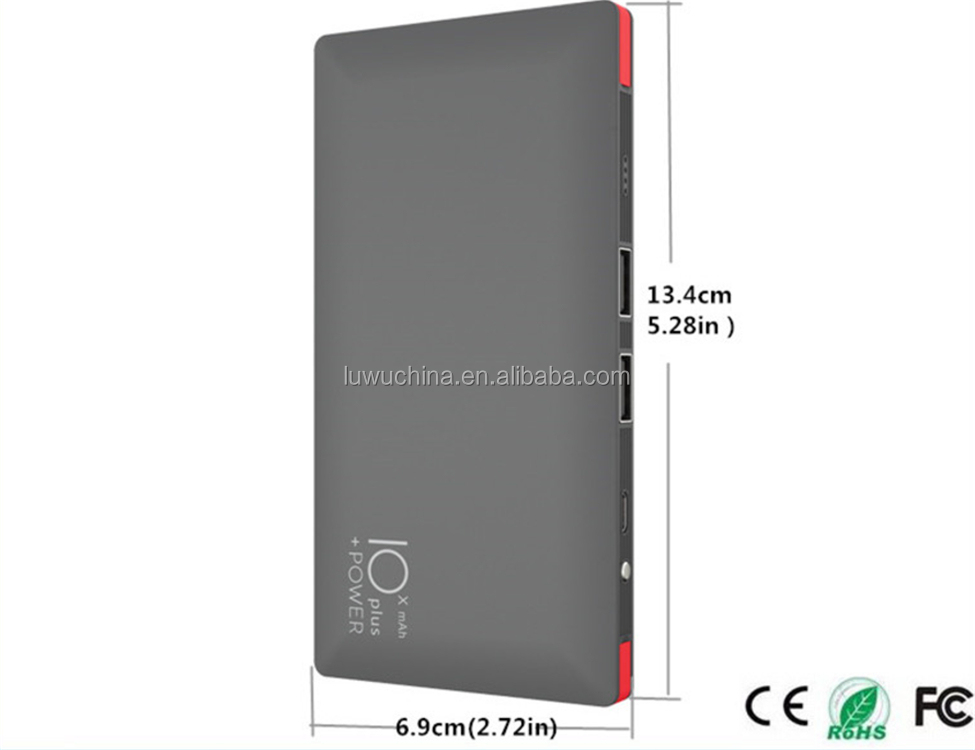 Top quality fast charging Slim Power Bank For Smartphone with printing logo