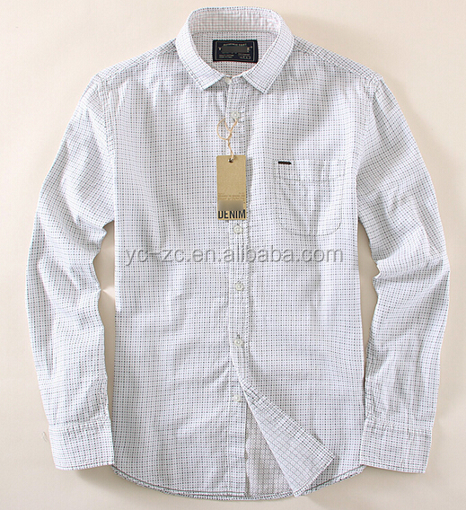 Simple plaids customized mens casual dress shirts men's office shirts woodland shirts