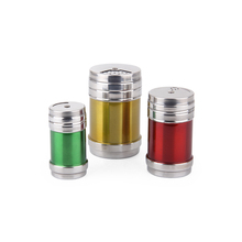 Stainless steel salt and pepper shakers & pepper bottle & candy jar