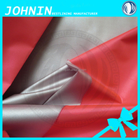 china supplier silver coated fabric taffeta lining fabric for car curtain