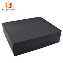 Custom Logo Gift Cardboard Paper Foldable Corrugated Shipping Black Mail Box