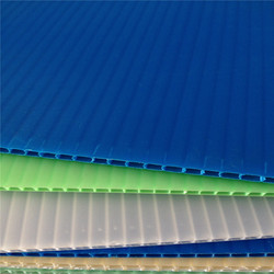 "4mm corrugated sheet uv ink printed one side 48""x 96"""