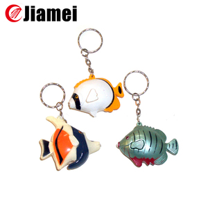 factory custom cheap 2D Single-side PVC whale keychain