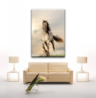 Best sell white running horse animal designs pictures for fabric painting