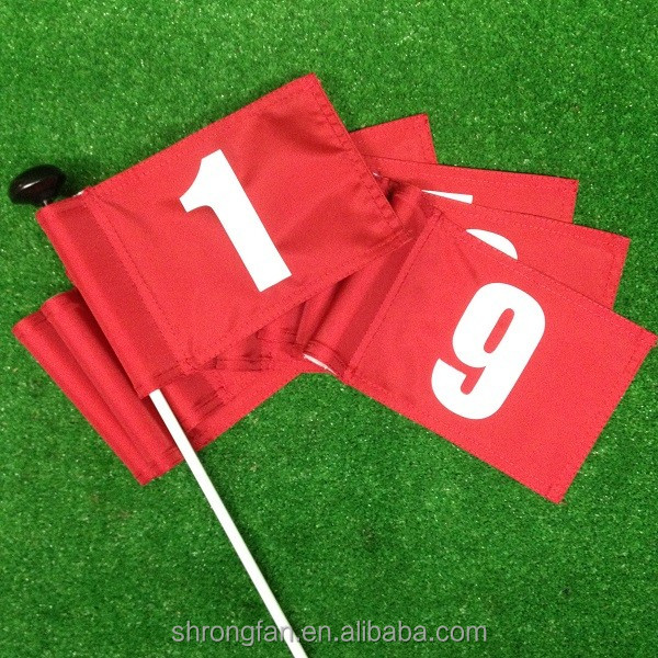 Custom top quality club golf flag